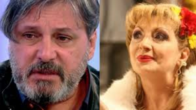 Ileana Ciuculete, interpretă de muzică ușoară, și Cornel Galeș, soțul ei