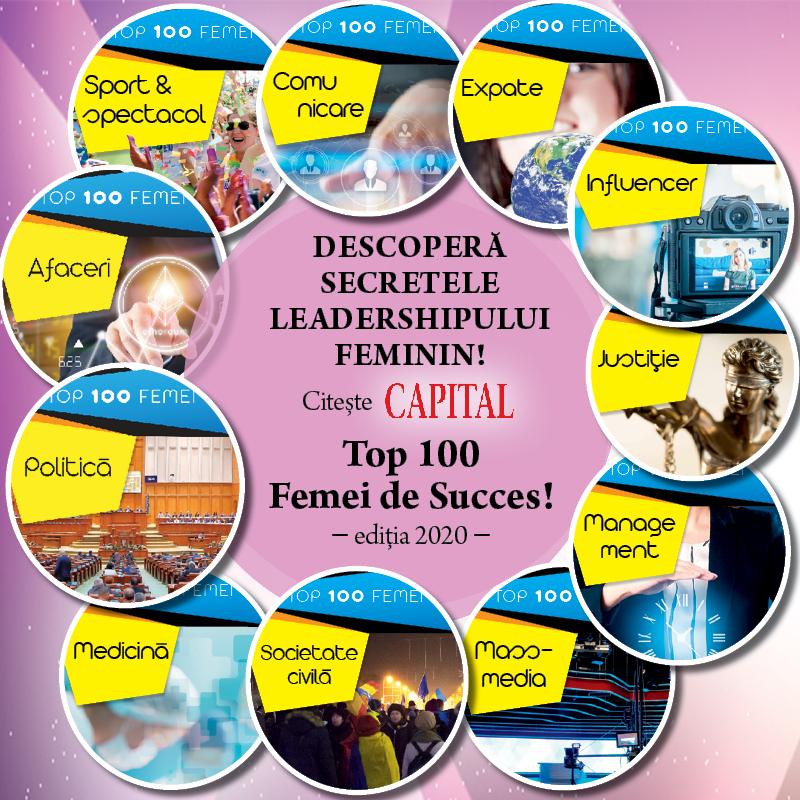 Află secretele leadershipului feminin. Top 100 Femei de Succes, ediția 2020