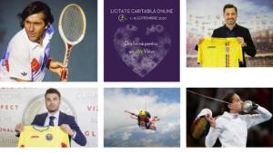 Din Inima pentru un ALT Viitor. Licitatie caritabila: racheta lui Ilie Nastare, tricouri semnate de Adrian Mutu, Mirel Radoi si multe altele