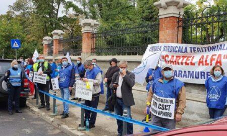 Miting în fața Ministerului de Justiție! Protestele sindicaliștilor continuă și astăzi