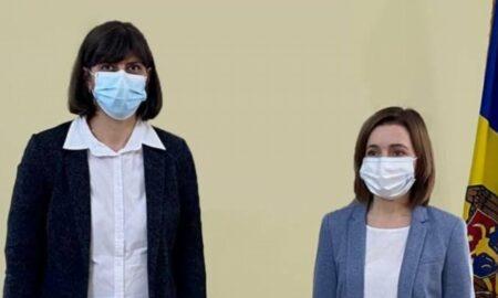 """Maia Sandu, întâlnire cu Laura Codruța Kovesi """"Politicienii de acasă sunt putred de corupți"""""""
