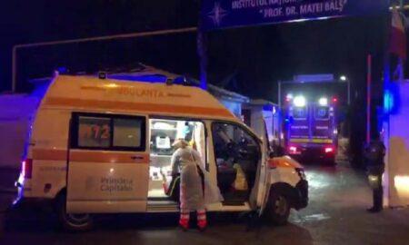 Incendiu violent la Spitalul Matei Balș din Capitală. Patru persoane au murit carbonizate