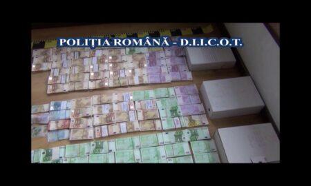 Cea mai mare rețea de falsificatori descoperită în România. Sute de mii de euro falși circulă în 10 țări din UE