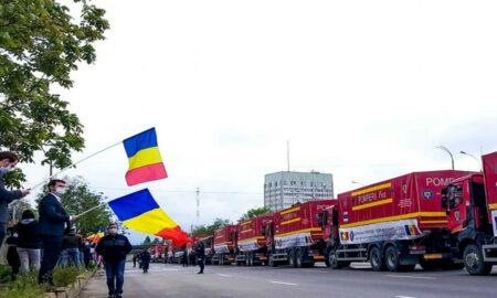 România a trecut din nou Prutul. Convoiul cu ajutoare a fost întâmpinat cu tricolorul românesc