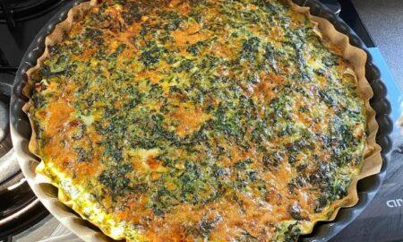 Cori Grămescu împărtășește un meniu de mic dejun care nu îngrașă: Tartă cu spanac