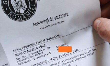 Cum se poate obține adeverința de vaccinare. Anunțul medicului coordinator Valeriu Gheorghiță