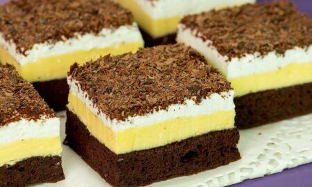Prăjitura Duo Crème. Rețetă pentru un desert rapid fără migală în bucătărie