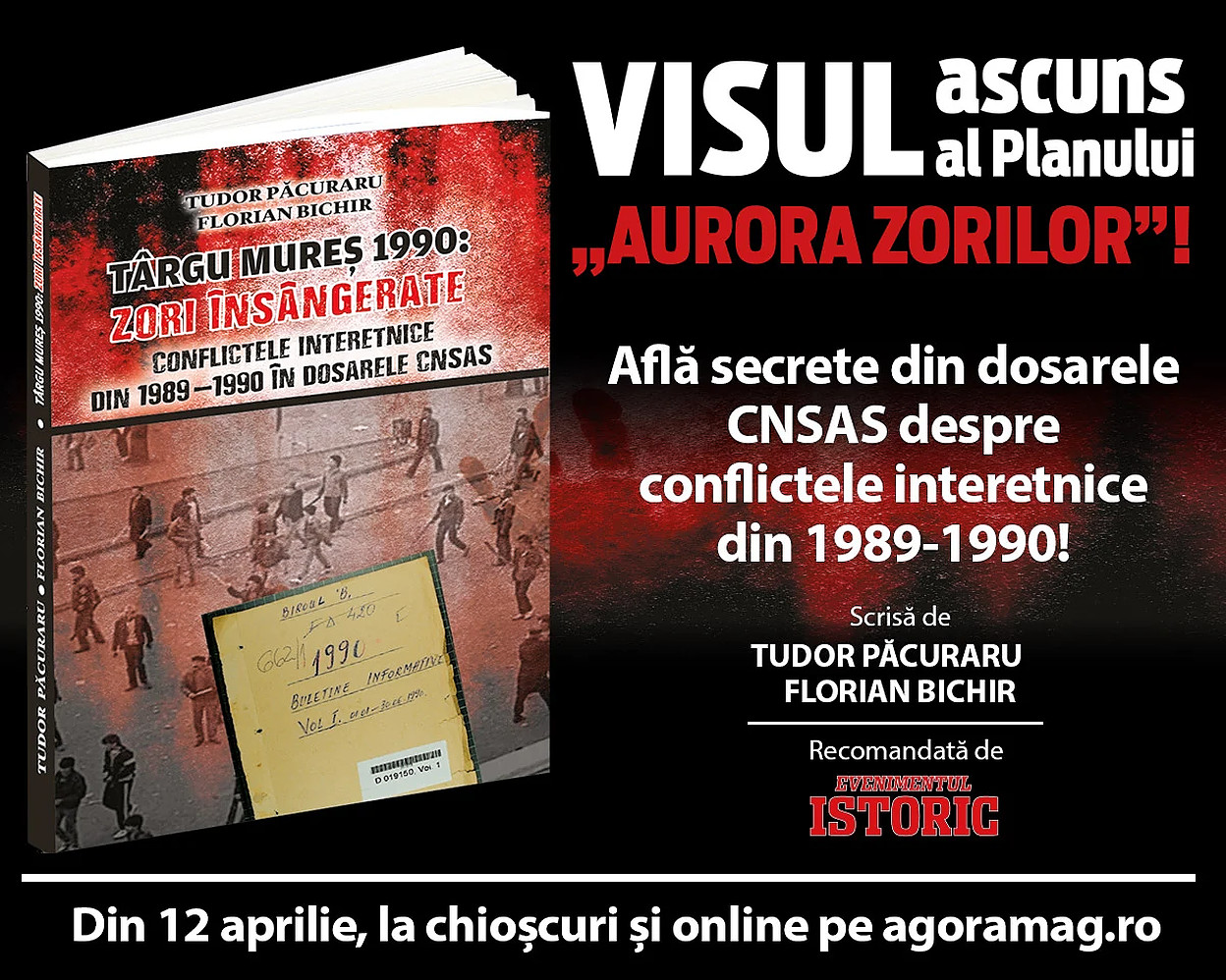 Zori însângerate. O carte istorică blocată la vânzare. Au deranjat dezvăluirile legate de manipulările din conflictul interetnic din 1990?