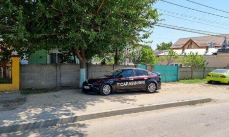 Carabinierii în Drăgăneşti Olt. Mașina care a alertat AUTORITĂȚILE române