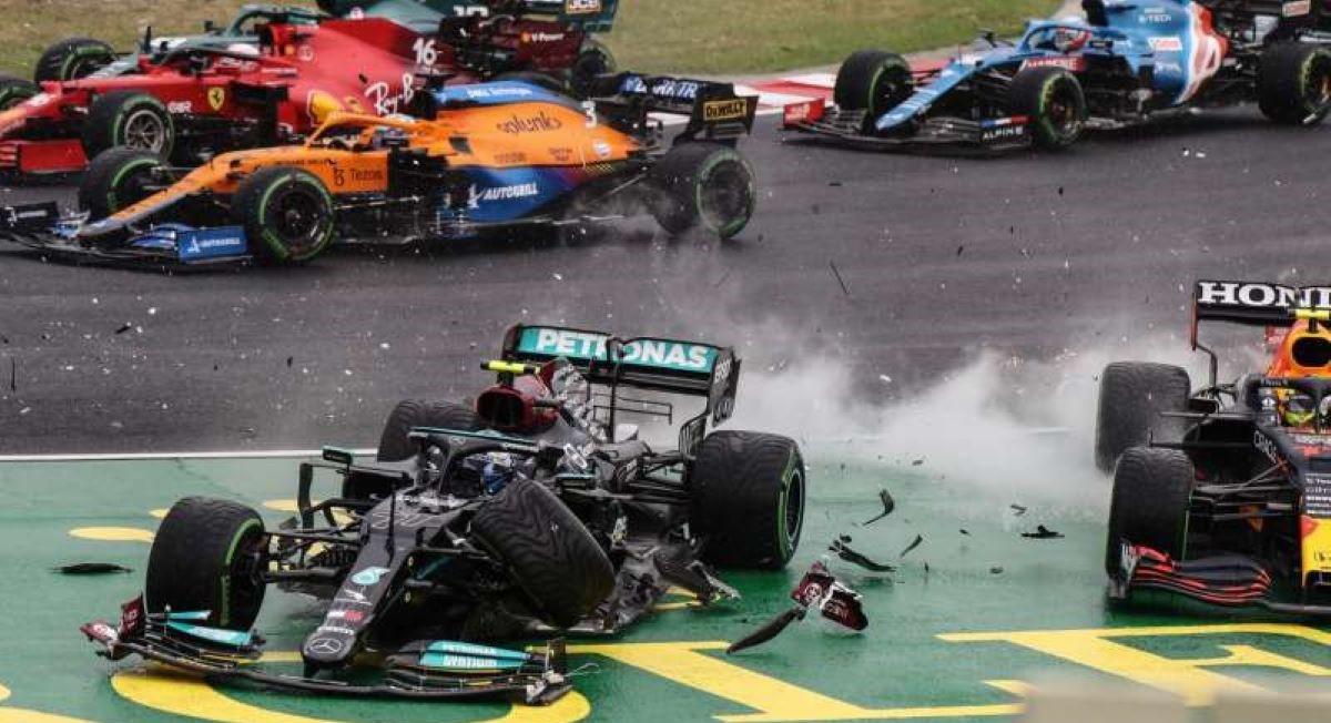 Marele Premiu al Ungariei întrerupt. Carambol chiar în primul viraj