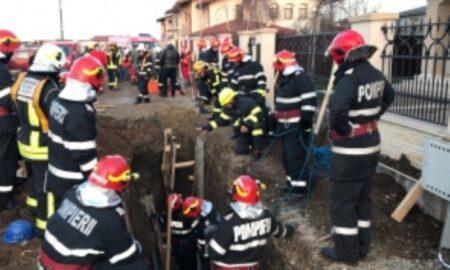 În centrul Capitalei, muncitori surprinși de un mal de pănânt care s-a prăbușit peste ei