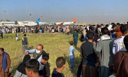 Haos pe aeroportul din Kabul