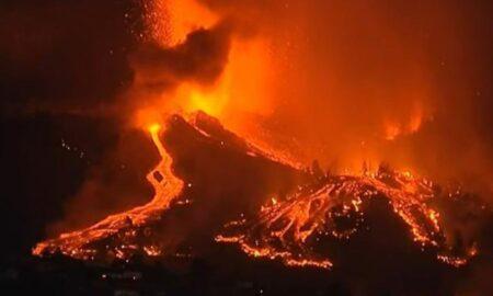 Video. Iadul pe pământ: Râuri de lavă înalte de 15 metri au acoperit casele în La Palma