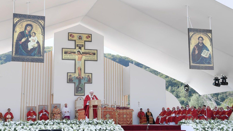 """Papa Francisc în Slovacia: """"Crucea nu este un steag pe care să-l fluturăm, ci sursa pură a unui nou mod de viaţă"""""""