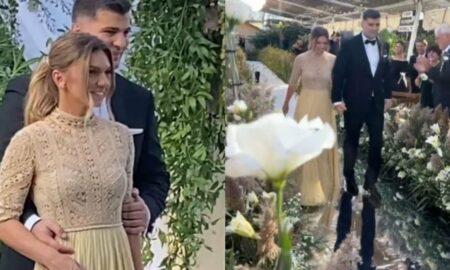 Cătălin Botezatu comentează ținuta Simonei Halep din ziua nunții: Rafinată și extrem de elegantă