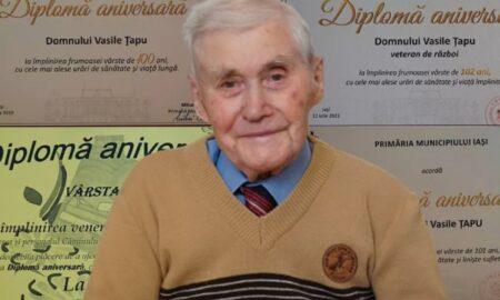 """Secretele domnului Vasile. Are 102 ani și este într-o formă de zile mari: """"Am o rutină în fiecare zi"""""""